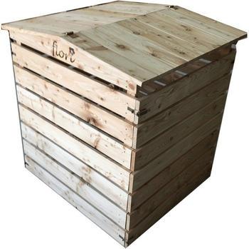 Gardenlife Komposter Holz massiv Klappdeckel
