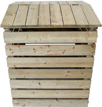 Nativ Garten Komposter aus Holz mit Deckel (NA001)
