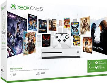 Microsoft Xbox One S 1TB Starterangebot - 3 Monate Xbox Game Pass + 3 Monate Xbox Live Gold