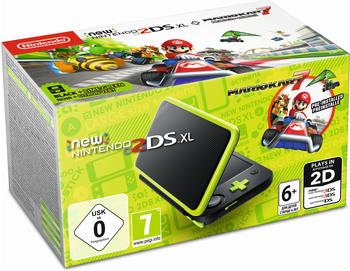Nintendo New 2DS XL Spielkonsole schwarz/grün, inkl. Mario Kart 7