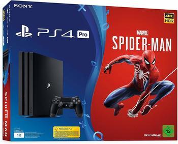 Sony PlayStation 4 Pro 1TB (Bundle, inkl. Spider-Man + Wireless-Controller) schwarz