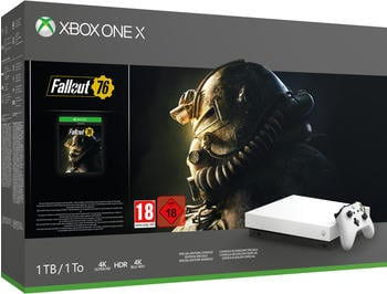 Microsoft Xbox One 1TB (Bundle, inkl. Fallout 76 Robot White Special Edition
