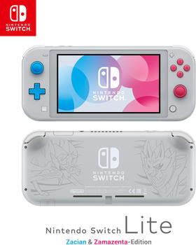 Nintendo Switch Lite Pokémon Schwert und Schild - Zacian & Zamazenta-Edition