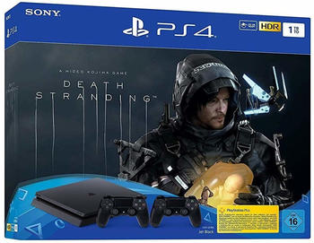Sony PlayStation 4 (PS4) Slim 1TB + Death Stranding + 2 Controller