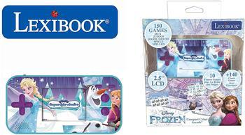 lexibook-disney-die-eiskoenigin-tragbare-compact-cyber-arcade-konsole-25-150-spiele-blau