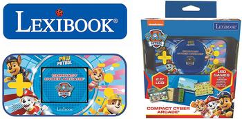 lexibook-paw-patrol-spielekonsole-compact-cyber-arcade-25-150-spiele-mehrfarbig