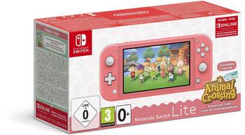 Nintendo Switch Lite koralle inkl. Animal Crossing: New Horizons