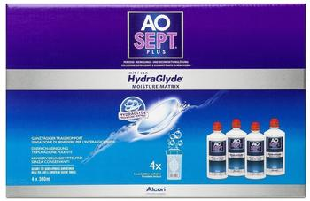Alcon AO Sept Plus HydraGlyde (4 x 360ml)