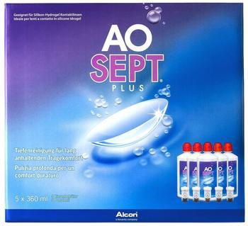 Ciba Vision Ao Sept Plus 6-Monatspack (5 x 360ml)