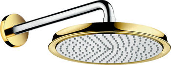 Hansgrohe Raindance Classic 240mm Air chrom/gold mit Brausearm 383mm, 27424090