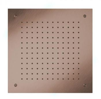 Herzbach Design iX PVD Regenbrause 50 x 50 cm Design iX PVD mit 1 Strahlart, Regen copper steel 21.655000.2.39