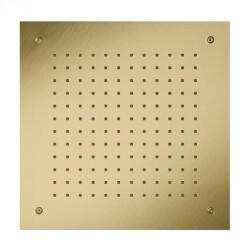 Herzbach Design iX PVD Regenbrause 50 x 50 cm mit 1 Strahlart, Regen brass steel 21.655000.2.41