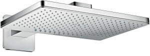 HANSGROHE Kopfbrause 460 2jet Axor chrom mit Brausearm softcube, 35275000