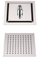 Hudson Reed Duschkopf Edelstahl Quadratisch 200mm x 200mm Kubix mit Kugelgelenk, von Hudson Reed