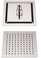Hudson Reed Duschkopf Edelstahl Quadratisch 300x300mm Kubix mit Kugelgelenk, von Hudson Reed