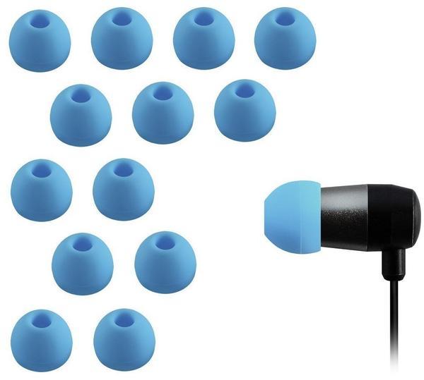 Xcessor 7 Paar (Satz Mit 14 Stück) Gummi Silikon Ohrpolster Ohrstöpsel Für In-Ear Ohrhörer. Kompatibel Mit Den Meisten In-Ohr Markenkopfhörern. Größe: M (Mittel). Blau