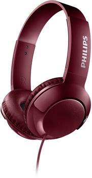 Philips Bass+–Faltkopfhörer mit Kabel rot