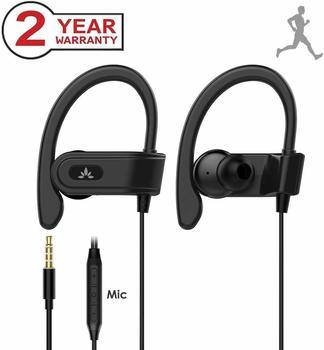 Avantree Sport In-Ear Bügel-Kopfhörer mit Mikrofon, Kabelgebunden Laufen Kopfhörer