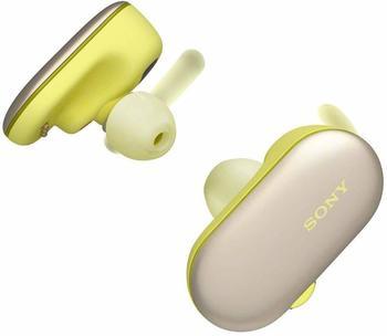 Sony WF-SP900 Sport-Kopfhörer (Bluetooth, NFC, Noise-Cancelling, Sprachsteuerung) gelb