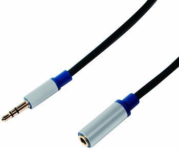 Logilink Premium - Audiokabel - Stereo Mini-Klinkenstecker (M) bis Stereo Mini-Klinkenstecker (W) - 3 m