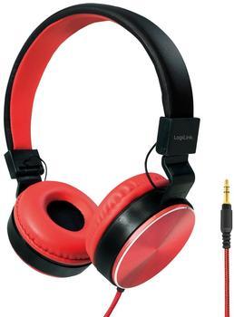 logilink-hs0049rd-eleganter-faltbarer-stereo-kopfhoerer-mit-hoher-klangqualitaet-hohem-tragekomfort-rot