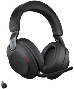 JABRA Evolve2 85 UC Stereo - Headset - ohrumschließend - Kopfband - - aktive Rauschunterdrückung - 3,5 mm Klinke, USB-C Bluetooth ANC LS black