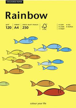 Papyrus Multifunktionspapier Rainbow, A4, 120g/qm, mittelgelb (88042324)