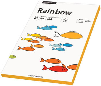 Rainbow Kopierpapier COLOURED PAPER mittelorange A4 80 g/qm