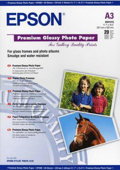 Epson Premium Glossy Photo Paper, A3
