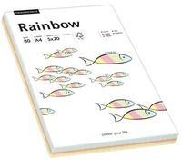 Rainbow Farbpapier A4 80 g/m² 5x20 Blatt (88043187)