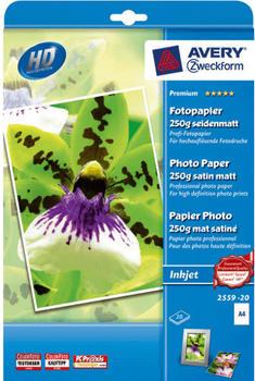 Avery Zweckform Premium Fotopapier, A4, 250g (2559-20)