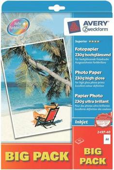 Avery Zweckform Superior Fotopapier, A4, 230g/qm (2497-40)