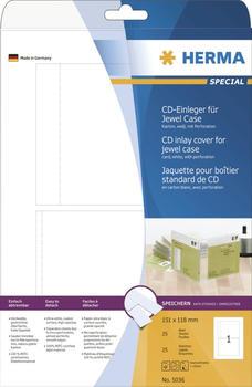 Herma CD-Einleger, 151x118 mm, weiß (5036)