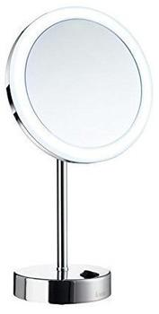 Smedbo Outline Kosmetikspiegel mit LED Beleuchtung matt schwarz Fk484Eb