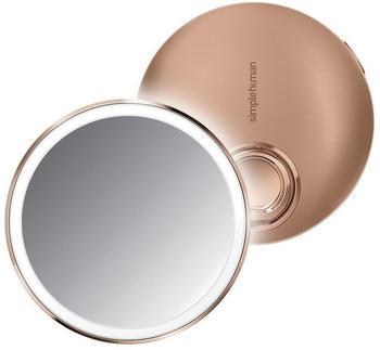 Simplehuman Sensorspiegel kompakt 10 cm rund roségold (ST3031)