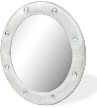 VidaXL Wall Mirror synthetic leather silver