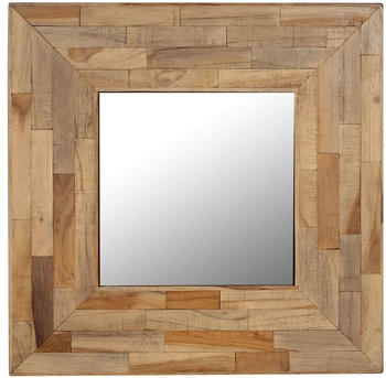 vidaXL Mirror Reclaimed Teak 50 x 50 cm