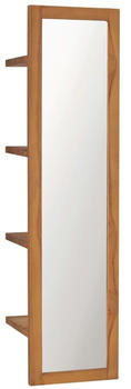 vidaXL Wall Mirror With Shelves 30 x 30 x 120 cm