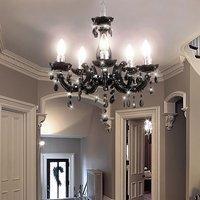 etc-shop Kronleuchter Luster Hänge Leuchte Decken Lampe im Set inklusive LED Leuchtmittel