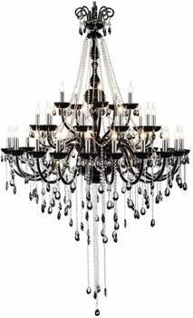 Spot-Light Hochwertiger Kronleuchter Kristall schwarz 9140354