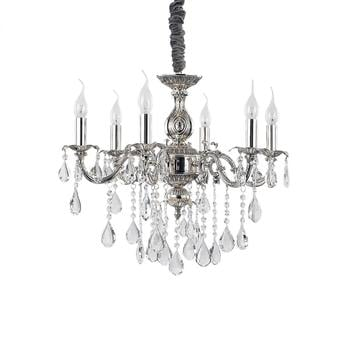 ideal-lux-impero-sp6-6-flammig-e14-silber