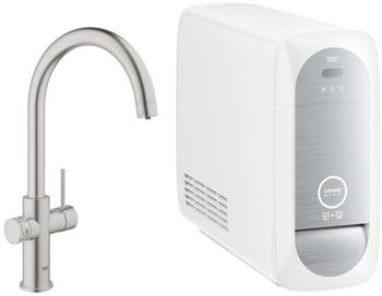 GROHE Blue Home Duo Starter-Kit C-Auslauf supersteel (31455DC0)