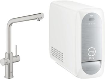 GROHE Blue Home Starter Kit L-Auslauf supersteel (31454DC0)