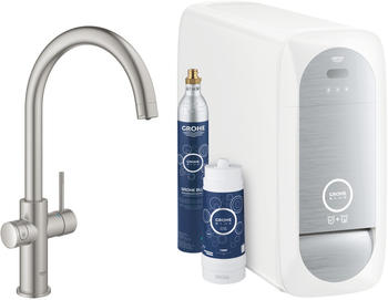 GROHE Blue Home Duo Starter-Kit C-Auslauf supersteel (31455DC1)