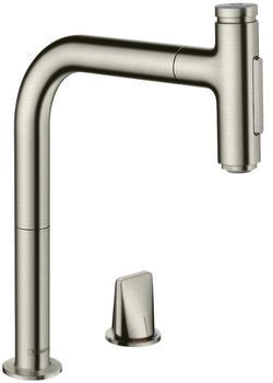 Hansgrohe Metris Select M71 200 Ausziehbrause sBox edelstahl finish (73818800)