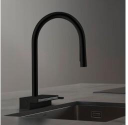 Hansgrohe Aquno Select M81 Einhebel-Küchenmischer sBox schwarz matt (73831670)