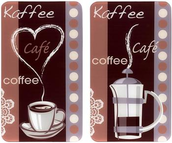 Wenko Abdeckplatten 2er Set Kaffeegenuss
