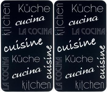 Wenko Abdeckplatten 2er Set Küche schwarz