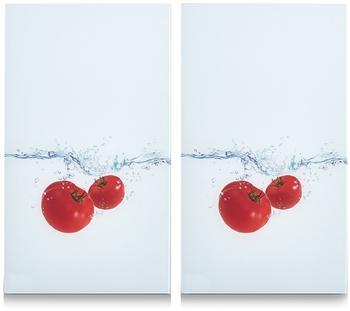 Zeller Herdabdeckplatte 2er Set Tomato Splash