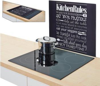 Zeller Herdabdeckplatte Kitchen Rules schwarz